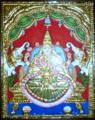 Gajalakshmi in Tanjore Painting.png