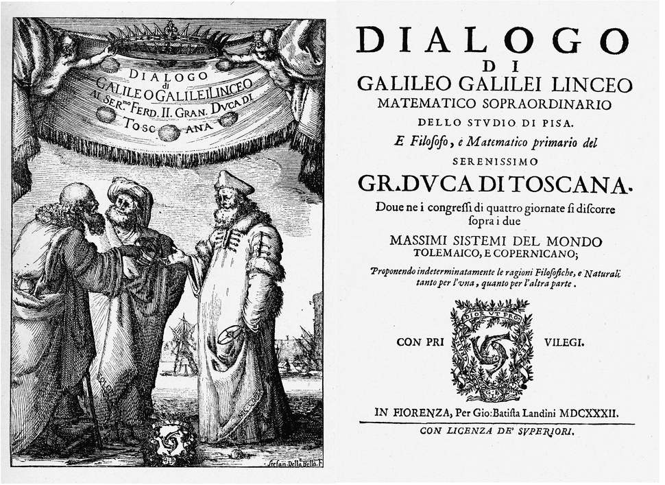 Galileos Dialogue Title Page