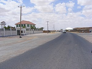 Transport in Somalia - Roadside view of a neighborhood in Garowe.
