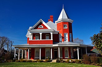 National Register of Historic Places listings in Lawrence County, Tennessee - Image: Garrett House, (Lawrenceburg, TN)
