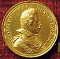 Gasparo mola, medaglia di cosimo II de' medici (e maria m. d'austria), 1618 (oro).JPG