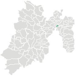 Vị trí của đô thị trong bang México