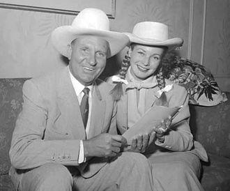 Gail Davis - Gene Autry and Davis in Toronto, circa 1956.