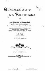 Luís Gonzaga da Silva Leme: Genealogia Paulistana