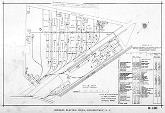 General Electric - Plan of Schenectady plant, 1896