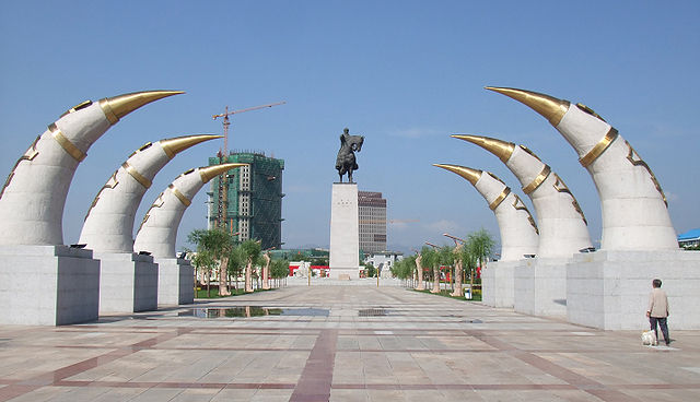 Genghis Khan Monument in Hohhot, Inner Mongolia, China