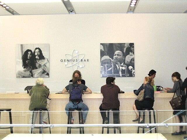 Genius Bar в нью-йоркском Apple Store