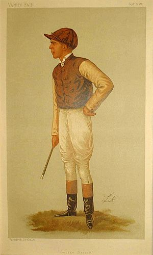 George Barrett (jockey) - George Barrett illustration by Lib in Vanity Fair