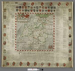 George Owen of Henllys - George Owen's map of Pembrokeshire, 1602