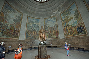 Ezra Winter - Image: George Rogers Clark statue and murals
