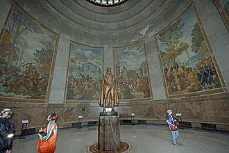 Ezra Winter - Image: George Rogers Clark statue and murals