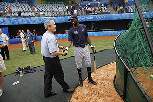 George W Bush with Dexter Fowler.jpg