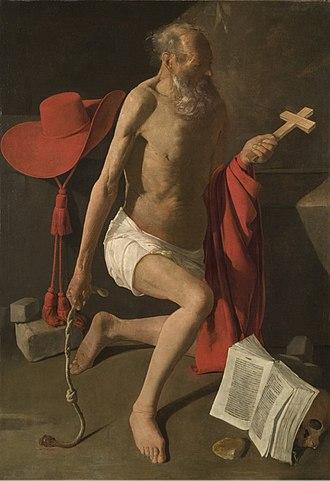 St Jerome at Prayer (Georges de La Tour) - Stockholm version