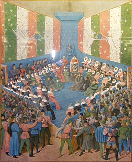 coming together of parties to a dispute, to present information in a tribunal
