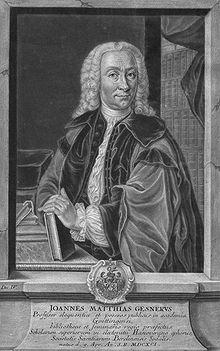 Gesner um 1750, Stich von Christian Nikolaus Eberlein (Quelle: Wikimedia)