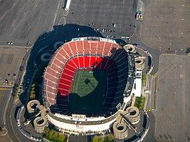 Aerfoto de Giants Stadium.