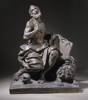 Giuseppe Maria Mazza - Saint Jerome (1676) Terracotta sculpture from Bologna, as of 2012 held in the Los Angeles County Museum of Art