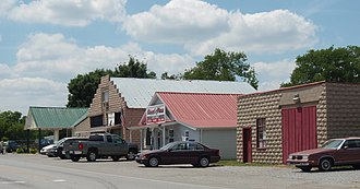 Gladeville, Tennessee - Shops along Stewarts Ferry Pike in Gladeville