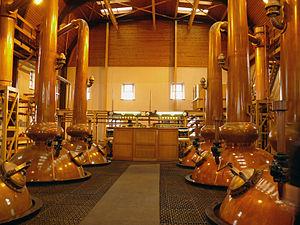 Glenmorangie distillery - Image: Glenmorangie Distillery Stills