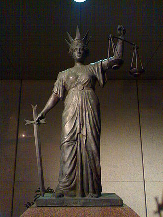 Themis - Statue of Themis, outside the former Law Courts, George Street, Brisbane, Queensland, Australia.