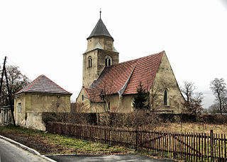 Gorzupia Dolna Village in Lubusz Voivodeship, Poland