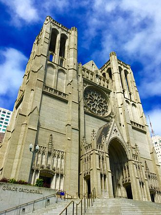 Grace Cathedral, San Francisco - Grace Cathedral front façade