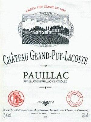 Château Grand-Puy-Lacoste - Chateau Grand-Puy-Lacoste Label