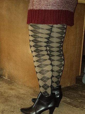 Argyle (pattern) - Image: Green Argyle Leggings 02298