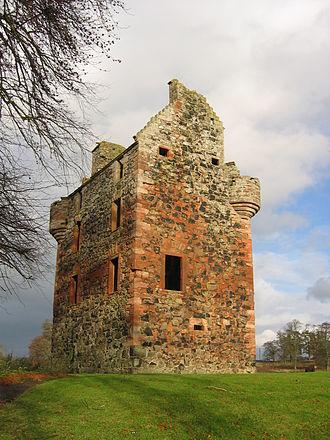Greenknowe Tower - Greenknowe Tower, seen from the south-west.