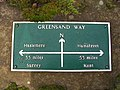 Greensand Way half way marker - geograph.org.uk - 582798.jpg
