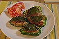 Grilled ground meat filled in bell pepper (3829360815).jpg