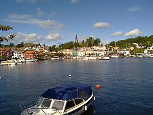 Grimstad (town) - View of the town harbour