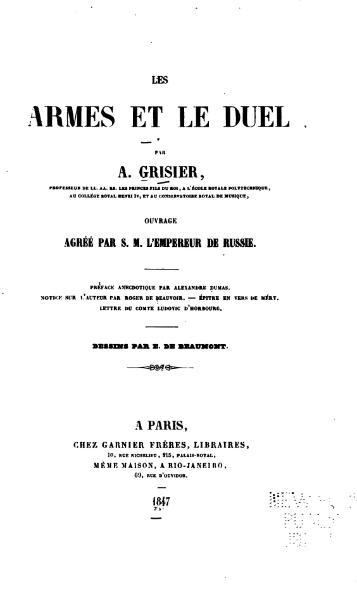 File:Grisier - Les Armes et le duel, 1847.djvu