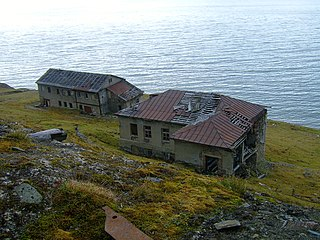 Grumant Ghost town in Svalbard, Norway