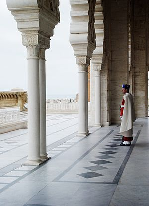 Mausoleum of Mohammed V - Image: Guard at the Mausoleum of Mohammed V