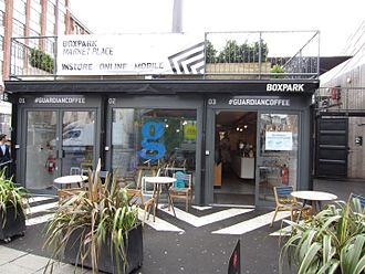 Boxpark - A coffee shop in Boxpark Shoreditch