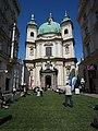 GuentherZ 2008-05-03 0818 Wien01 Peterskirche mit Wiese.jpg