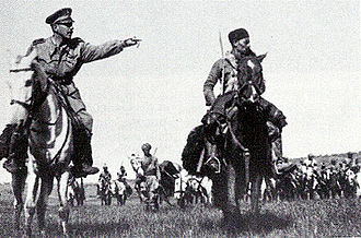 Military history of Italy during World War II - Amedeo Guillet with his Amhara cavalry.