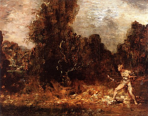 Gustave Moreau - Hercules and the Lernaean Hydra, 1876-1880