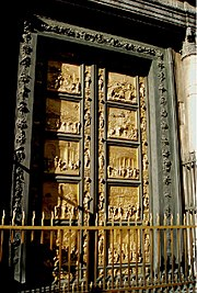 Ghiberti's Gates of Paradise, (1425-1452) were a source of communal pride. Many artists assisted in their creation.