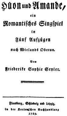 Original cover of Hüon und Amande by Friederike Sophie Seyler (1789) (Source: Wikimedia)