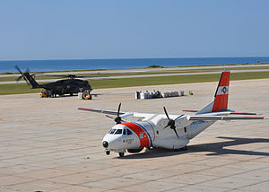 EADS HC-144 Ocean Sentry - An HC-144A and U.S. Navy MH-53E at Guantanamo Bay, Cuba
