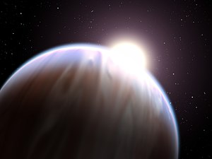 Hot Jupiter - An artist's impression of a hot Jupiter planet