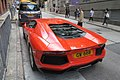 HK 上環 Sheung Wan 普仁街 Po Yan Street red race car 林寶堅尼 Lamborghini parking June 2017 IX1 01.jpg