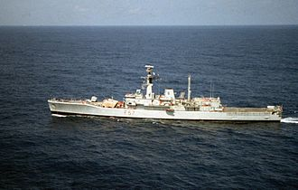 Leander-class frigate - Andromeda, a Seawolf conversion, in 1990