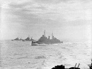 Malta convoys - Three British cruisers during Operation Halberd