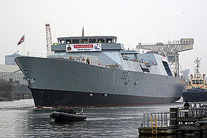 BAE Systems Maritime – Naval Ships - Launch of HMS ''Daring'' at Scotstoun in 2006. BAE and VT collaborated on the Type 45 class prior to the creation of the BVT Surface Fleet joint venture in 2008.
