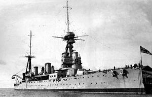 HMS New Zealand (1911) - Image: HMS New Zealand at Adelaide