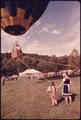 HOT AIR BALLOONIST FROM ATLANTA TESTS HIS CRAFT IN TETHERED FLIGHT IN THE HELEN VALLEY, SITE OF THE FIFTH ANNUAL... - NARA - 557799.tif