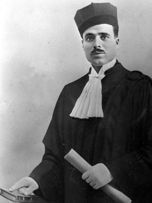 Habib Bourguiba - Bourguiba wearing his lawyer dress in 1927